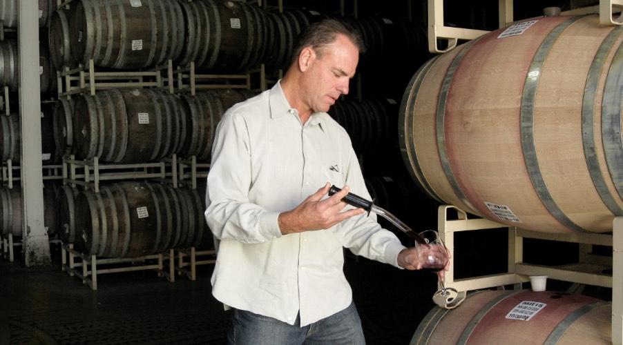 Courtney Benham sampling wine
