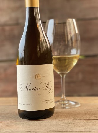 Martin Ray Chardonnay bottle and wine glass